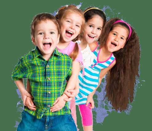enfants, plaisir, sourire